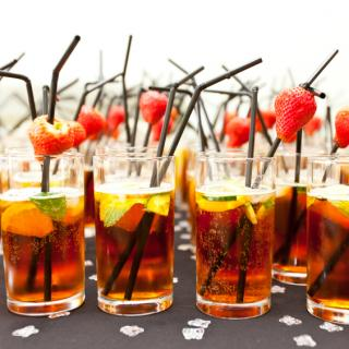 Pimms at a summer party