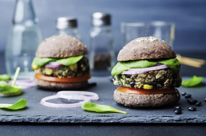 Mexican Black Bean Burgers