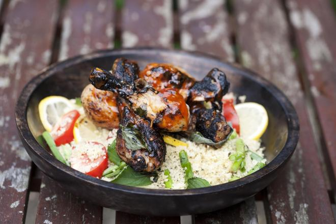 Summer BBQ Chicken with Couscous Salad