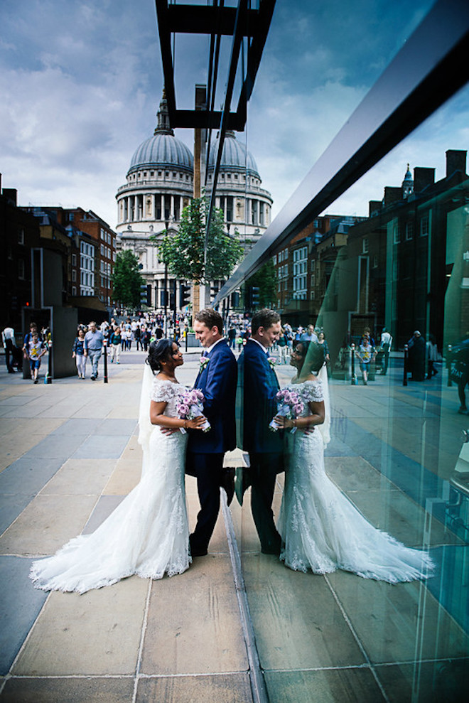 Hanai and Robert near St Paul's Cathedral