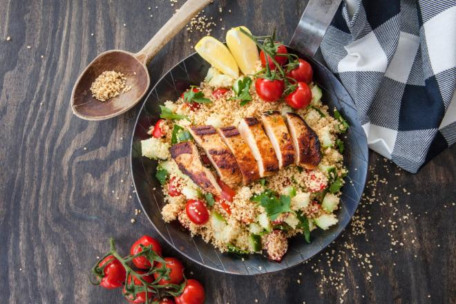 BBQ Chicken with Couscous Salad