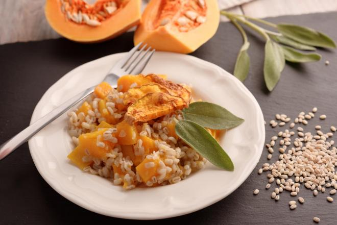 Butternut, Sage and Goats Cheese Risotto