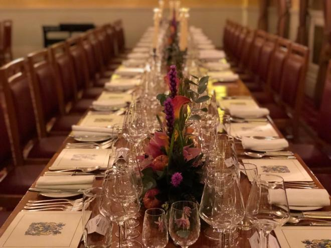 Pewterers' Hall dinner table