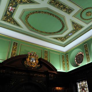 Life's Kitchen – Tallow Chandlers Hall - Ornate Ceiling Décor