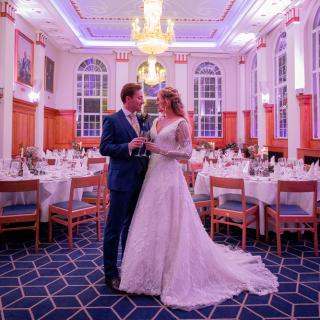 Bride and Groom in Butchers' Hall