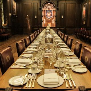 Tallow Chandlers Hall dinner set up by Life's Kitchen