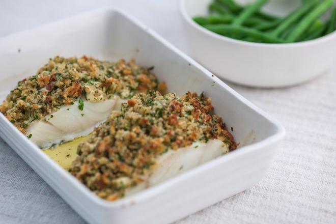 Herb Crusted Cod Fillets