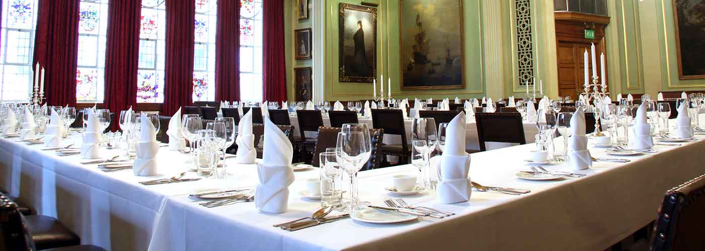 Life's Kitchen – Painters Hall Tables Laid for Banquet